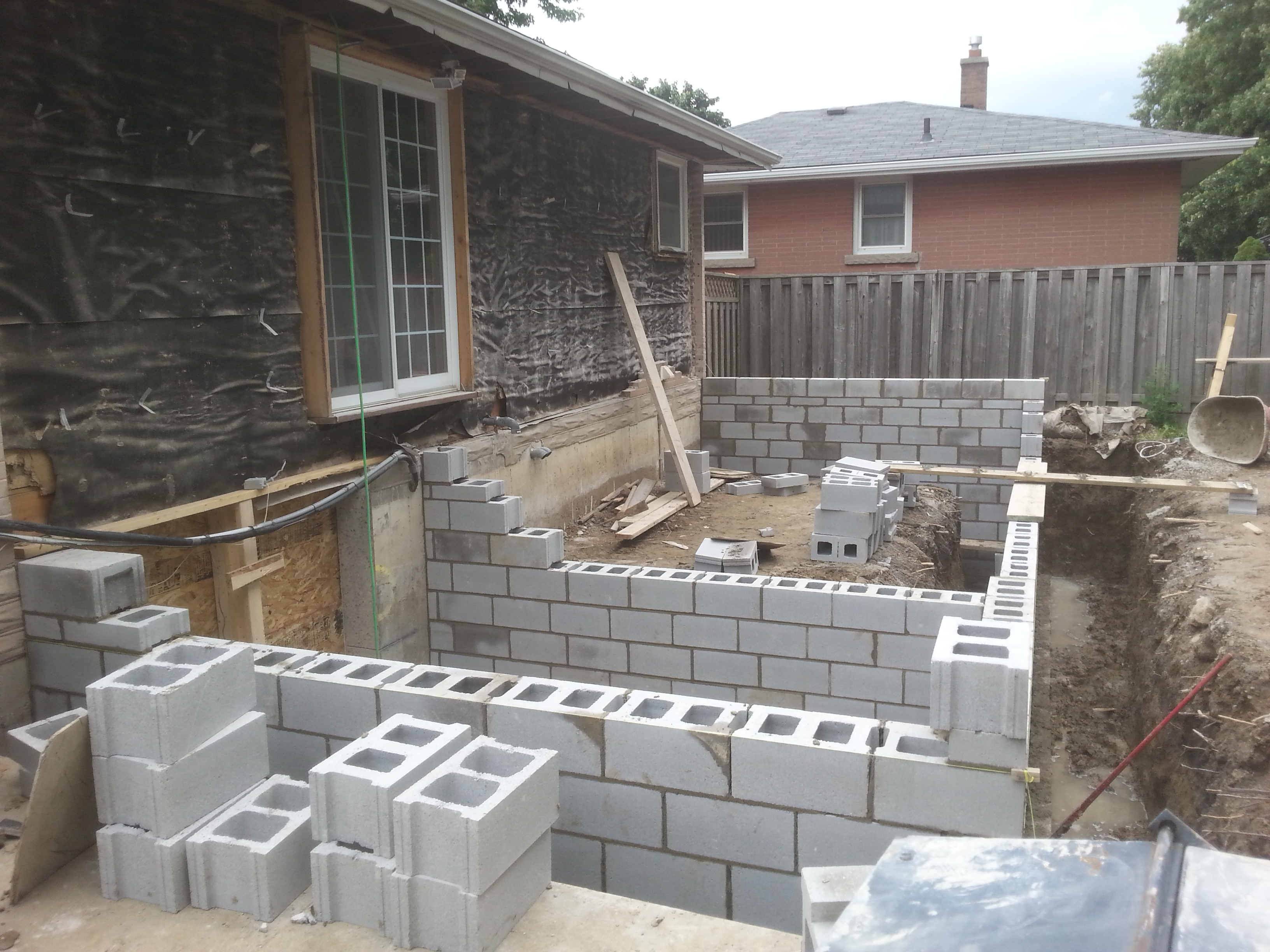 Concrete block foundation mitch 39 s masonry for Concrete block foundation